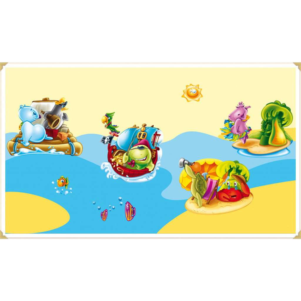 Wanddekoration Kinderzimmer Wandaufkleber Inselwelt der Tiere