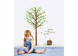 Wandsticker Baum Herbstlaub
