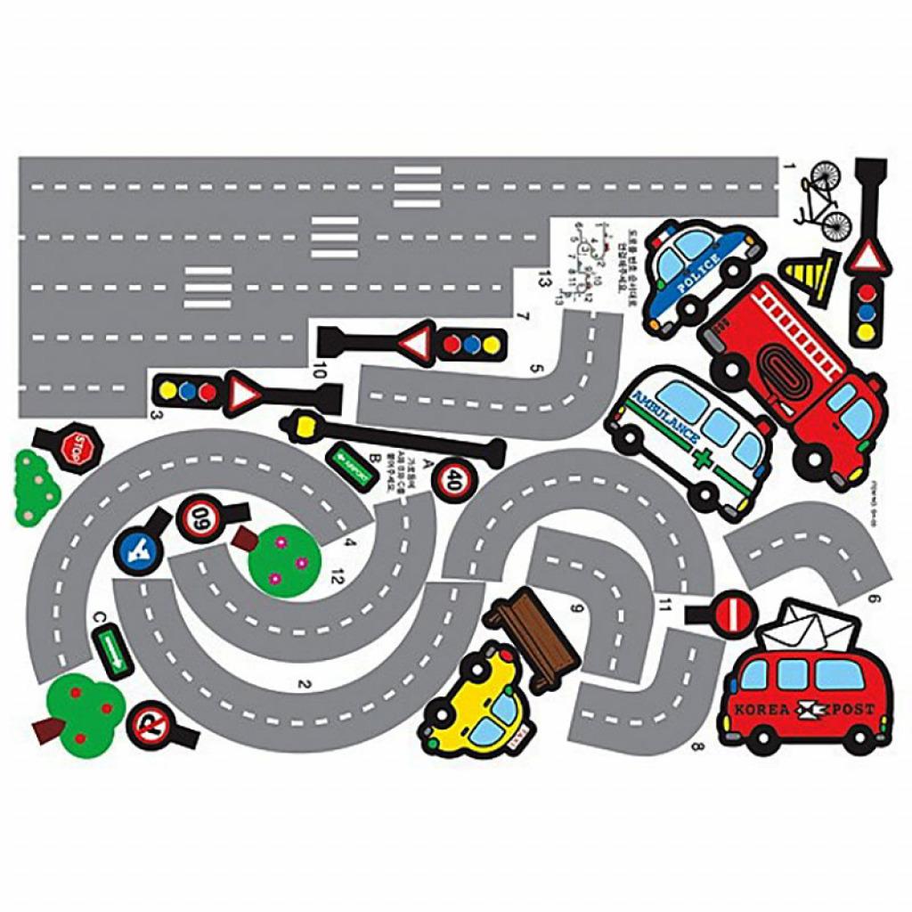 #18 Wandsticker Wandtattoo Autos Strau0026223en Und Verkehr