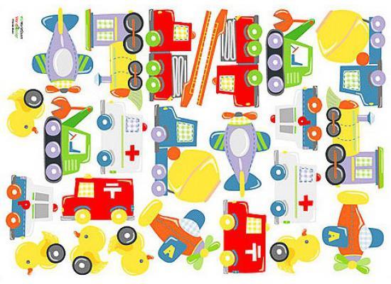 Wandsticker wandaufkleber wandtattoo autos fahrzeuge for Kinderzimmer fahrzeuge