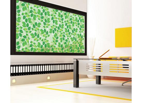 fensterfolie selbstklebend sonnenschutz gr nes laub. Black Bedroom Furniture Sets. Home Design Ideas