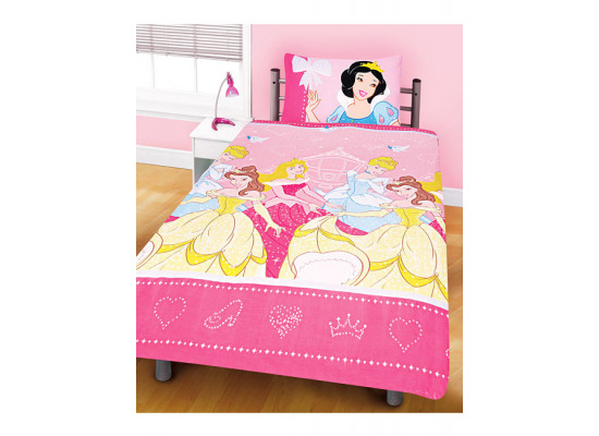 bettw sche disney princess mikrofaser dancing kinderzimmer m dchen 135x200 cm ebay. Black Bedroom Furniture Sets. Home Design Ideas