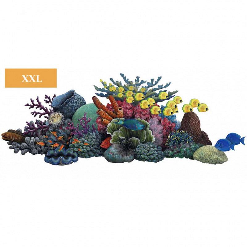 Wandsticker Wandbild Korallenriff 210x90cm