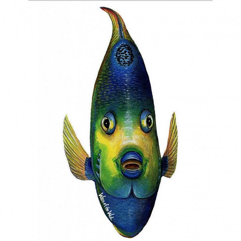 Wandsticker Königin Engelfisch Front