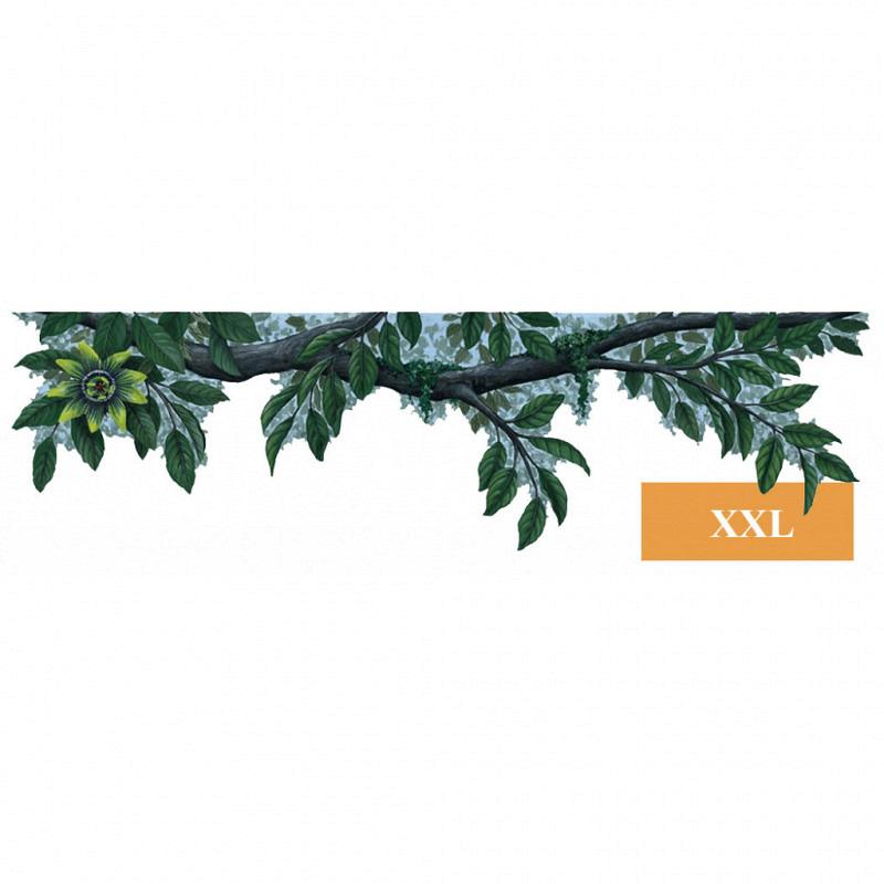 Bordüre Dschungel Pflanze grüne Blüten