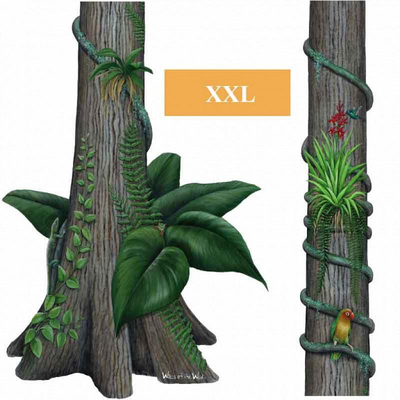 Wandsticker Dschungel Regenwald Baumstamm