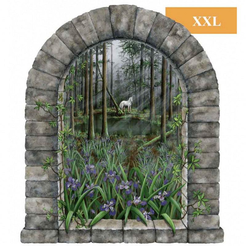 Wandsticker Einhorn Fenster Wandaufkleber