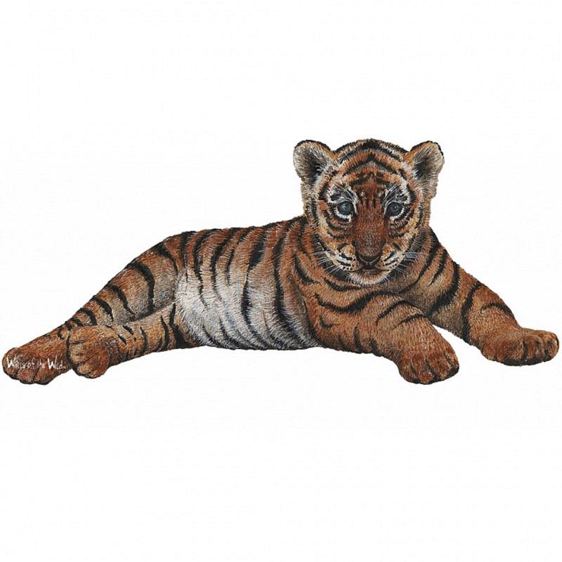 Wandsticker Dschungel Regenwald Tigerbaby