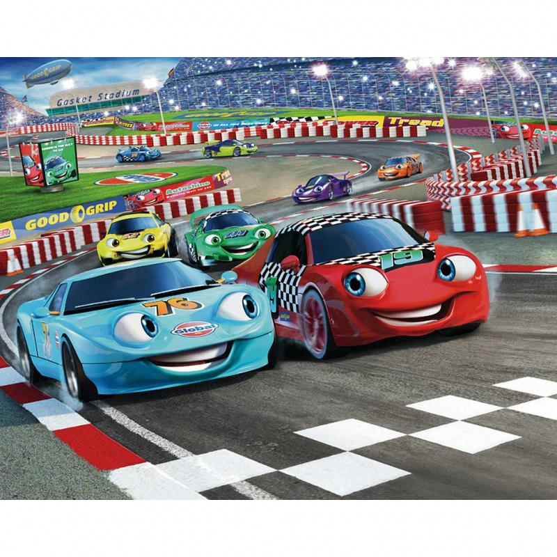 Fototapete Kinderzimmer Rennauto Car Racers