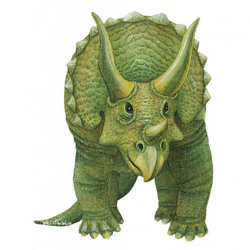 Wandsticker Dinosaurier Triceratops