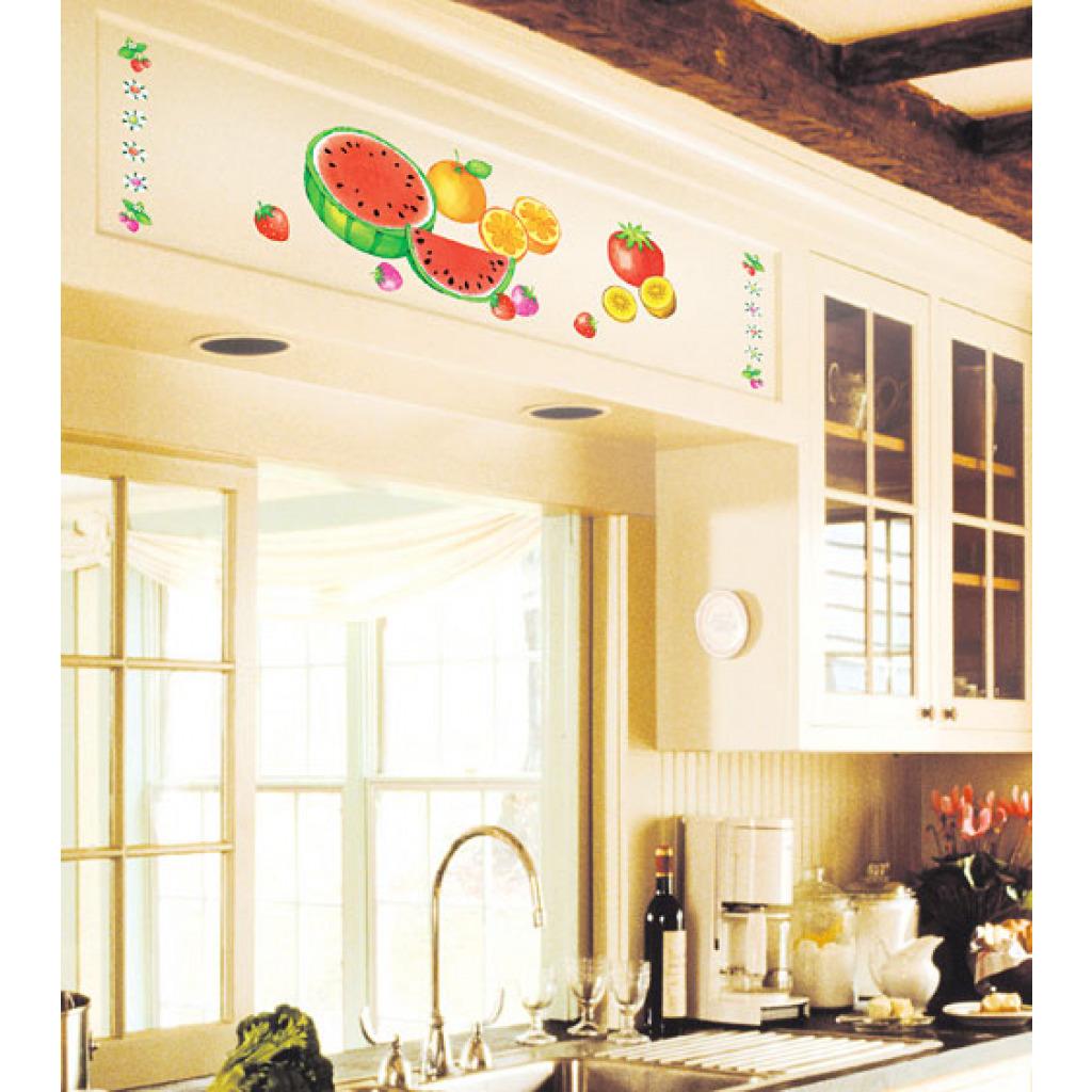 wandsticker k che frische fr chte obst melone zitrone erdbeere tomate ebay. Black Bedroom Furniture Sets. Home Design Ideas