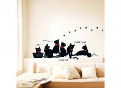 Wandsticker schwarze Katze