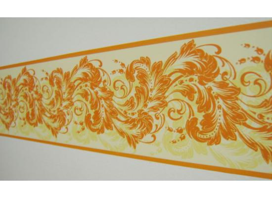 bord re tapeten borte gelb orange gemustert grundpreis 2. Black Bedroom Furniture Sets. Home Design Ideas