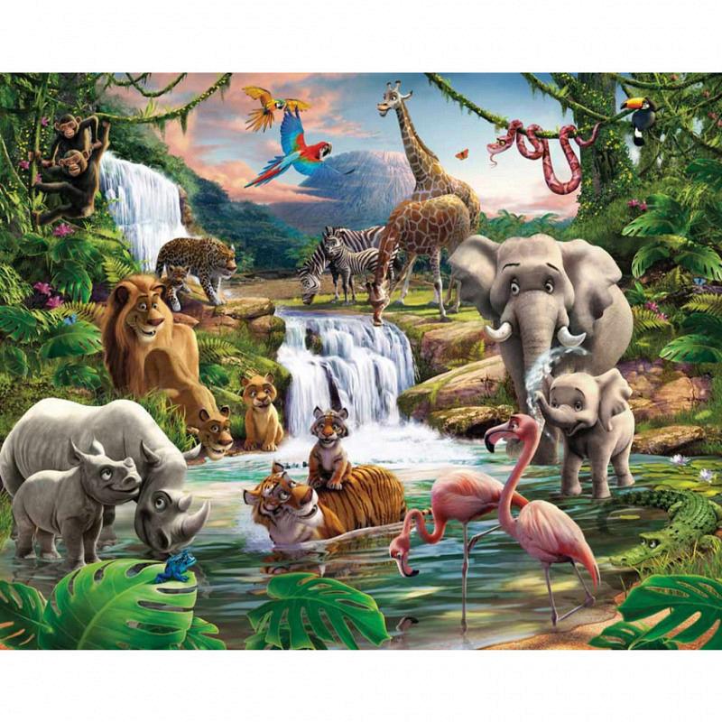 Fototapete Kinderzimmer Dschungel Tiere Afrika