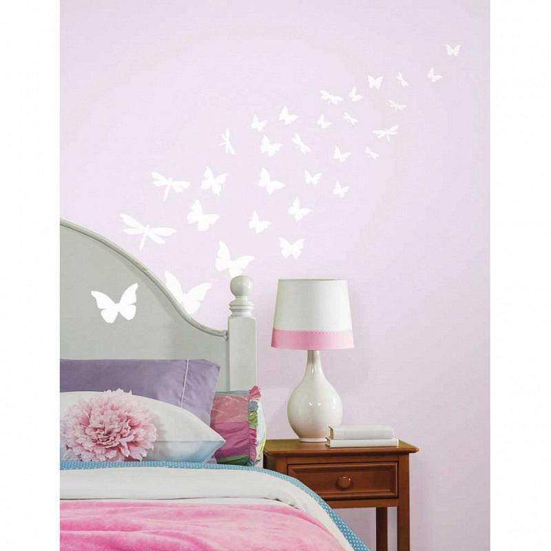 RoomMates Wandsticker Schmetterlinge leuchtend