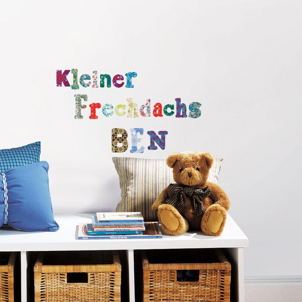 roommates wandtattoo retro alphabet boho stil kinderzimmer. Black Bedroom Furniture Sets. Home Design Ideas