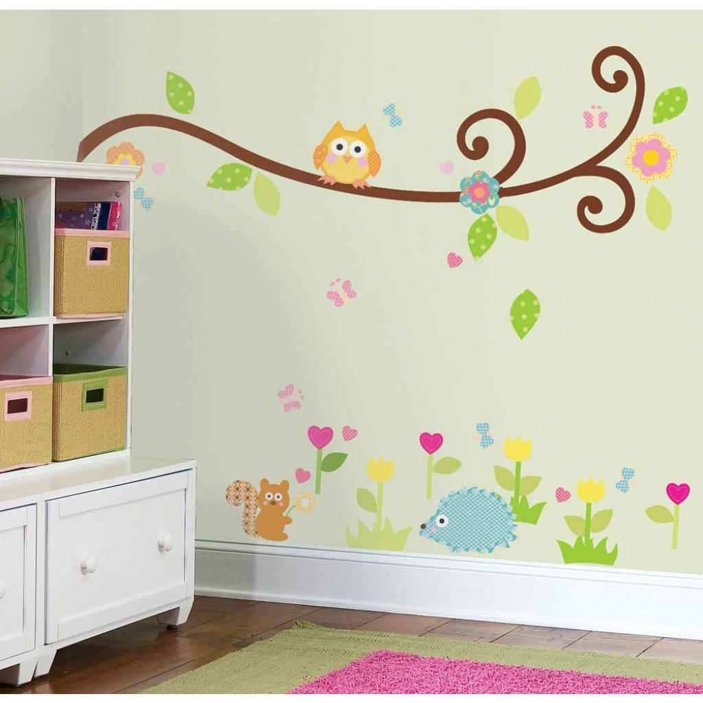 wandsticker kinderzimmer wandtattoo baby zweig ast tiere des waldes rathenow. Black Bedroom Furniture Sets. Home Design Ideas