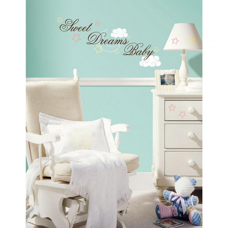 RoomMates Wandtattoo Sweet Dreams Baby