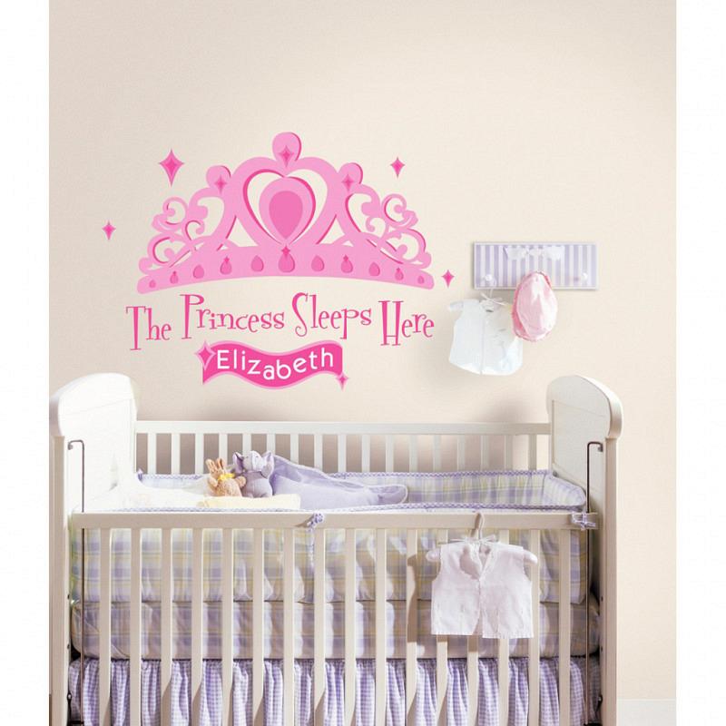 RoomMates Wandtattoo The Princess Sleeps Here