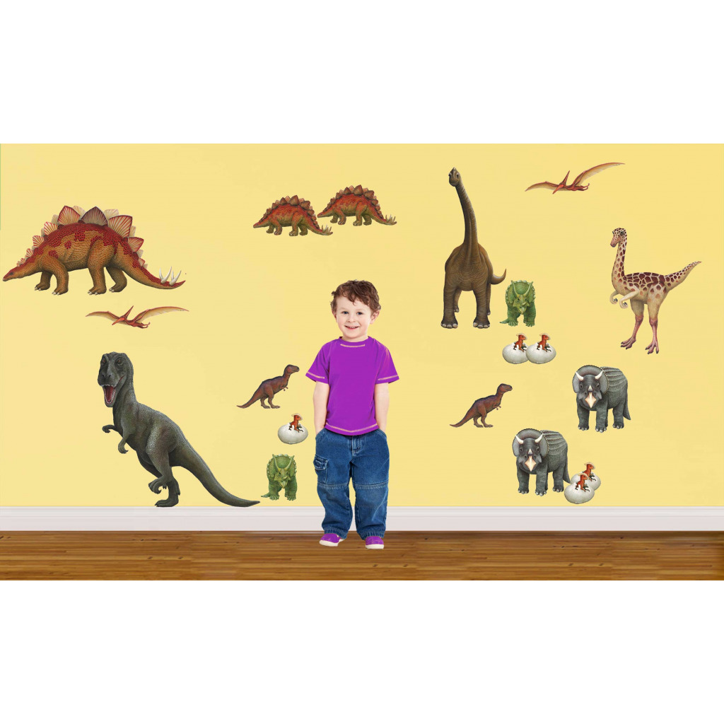 Walls of the Wild Wandsticker XXL Wandtattoo Dinosaurier Komplettset