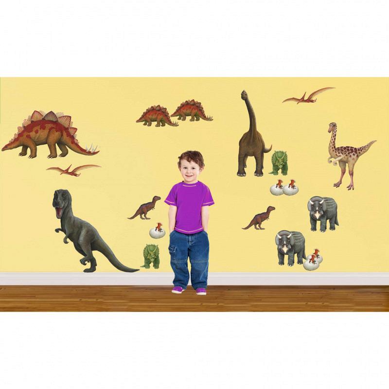 Wandsticker Wandtattoo Dinosaurier Komplettset