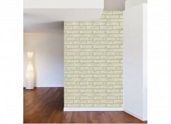 Tapete selbstklebend weiß-hellgrauer Stein