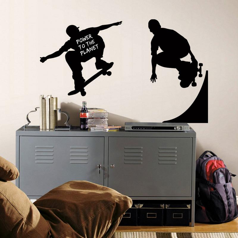 RoomMates Wandtattoo Kreidetafel Skater