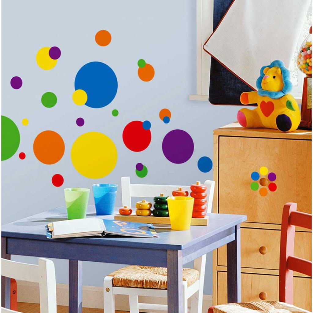 Roommates wandsticker wandtattoo wandaufkleber bunte for Kinderzimmer zu voll