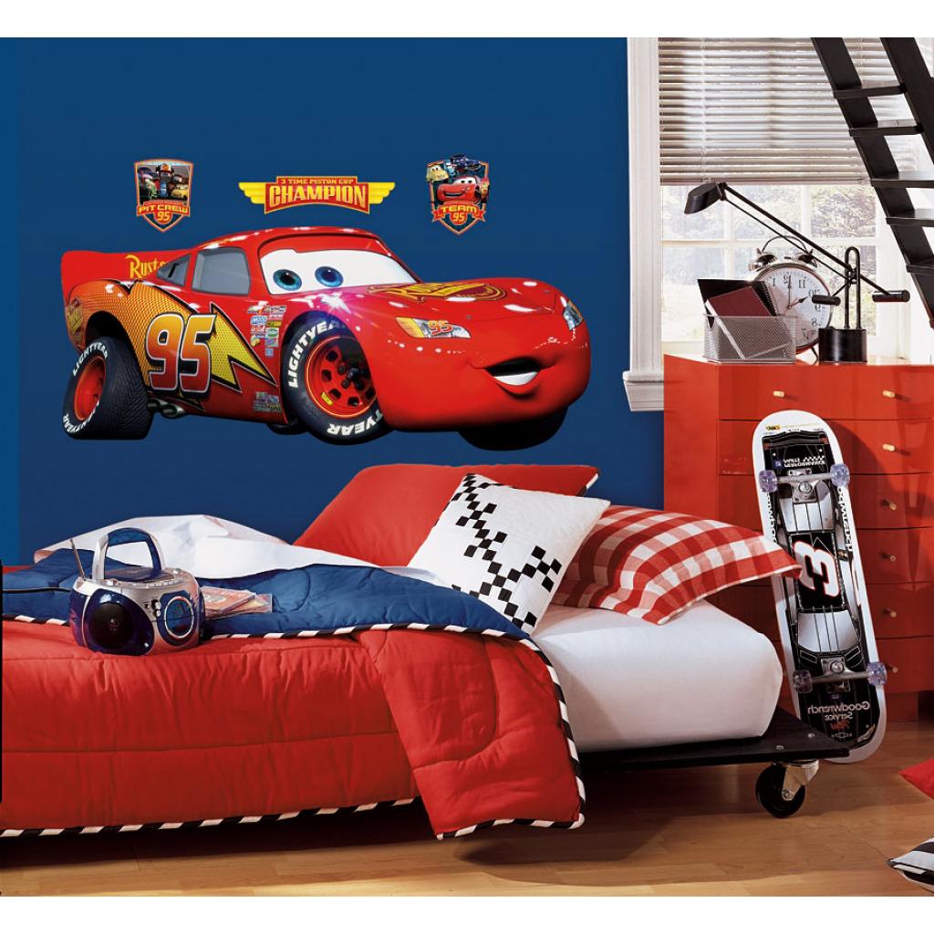 Roommates wandsticker wandbild wandtattoo cars lightning mcqueen ca 40 6cm x 97 8cm www 4 - Cars wandsticker ...