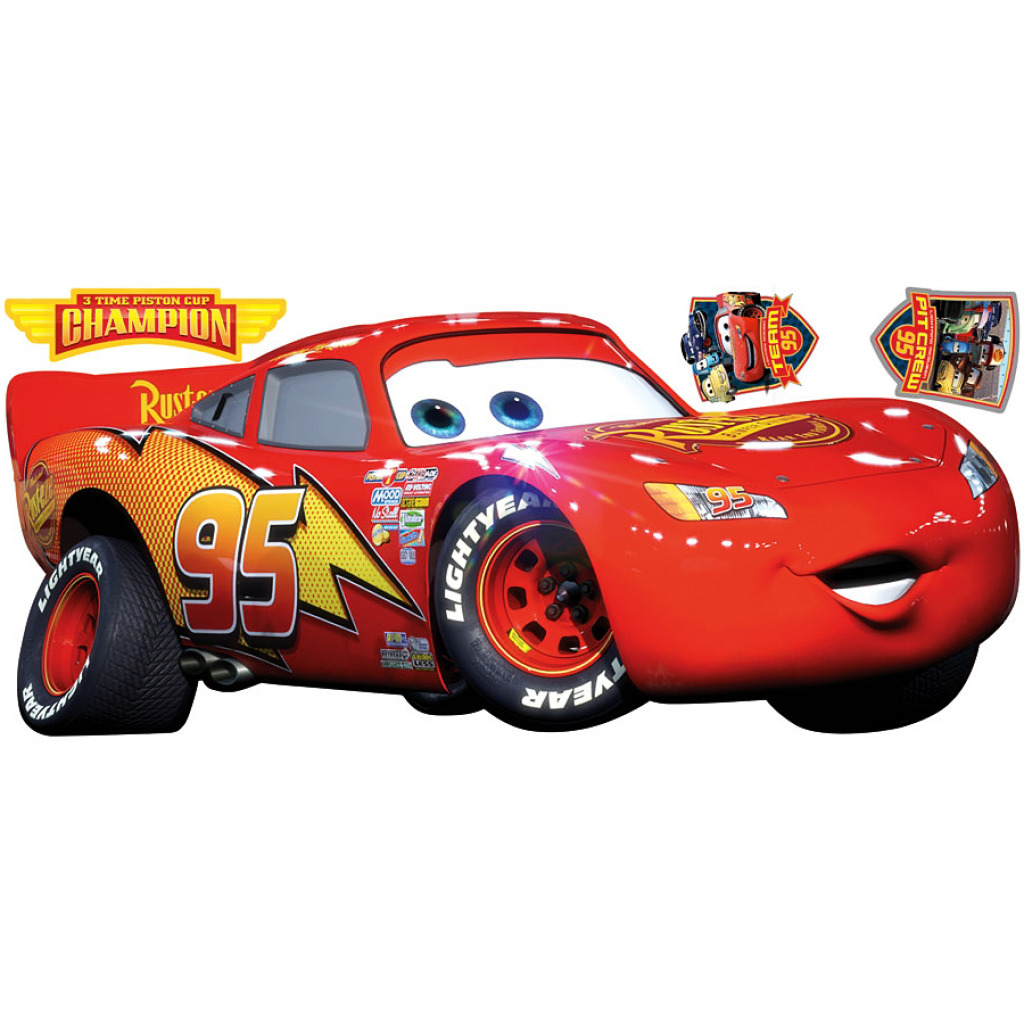 RoomMates Disney Logo Pixar Cars