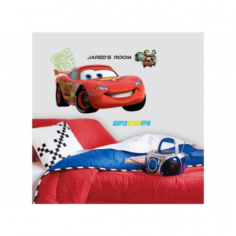 RoomMates Wandsticker LightningMcQueen ABC