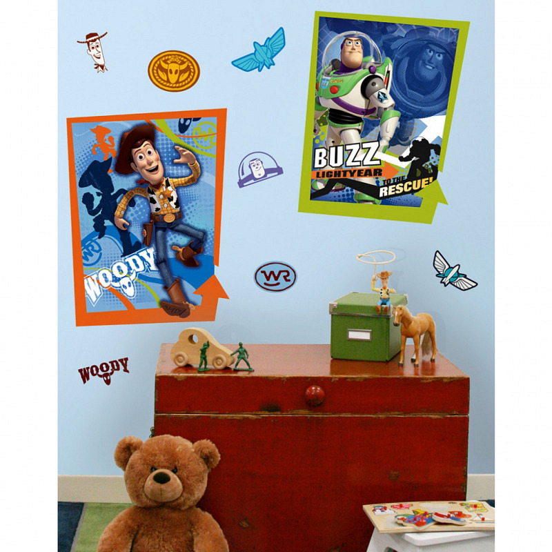RoomMates Wandbild Wandtattoo Toy Story Buzz Woody
