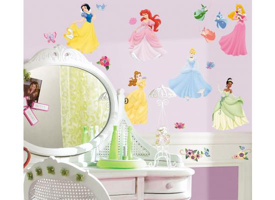 Roommates wandsticker wandtattoo disney princess wandbild - Wandtattoo kinderzimmer disney ...