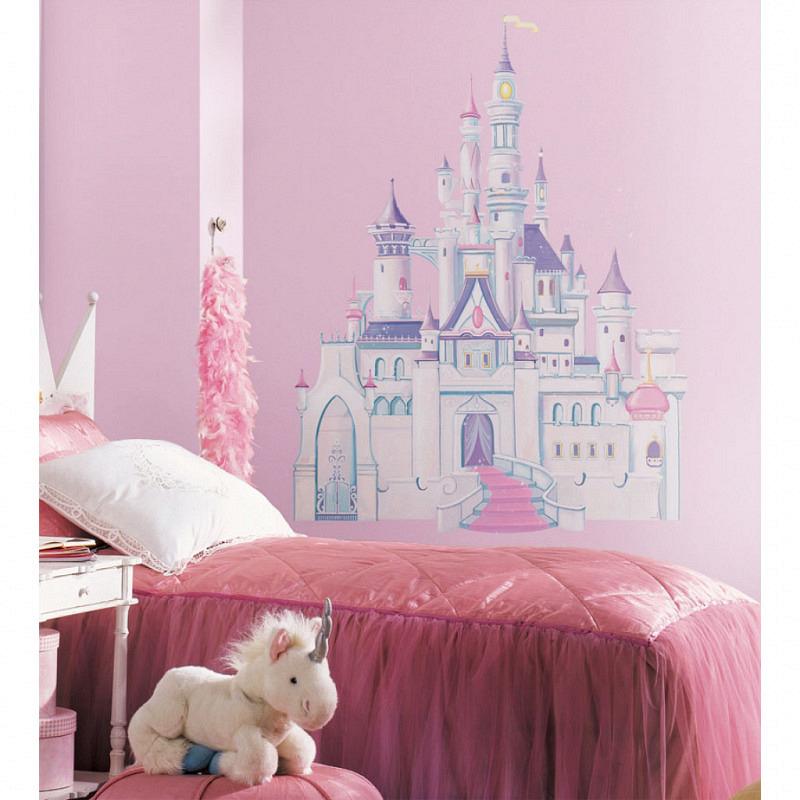 RoomMates Wandsticker XXL Glitter Schloss