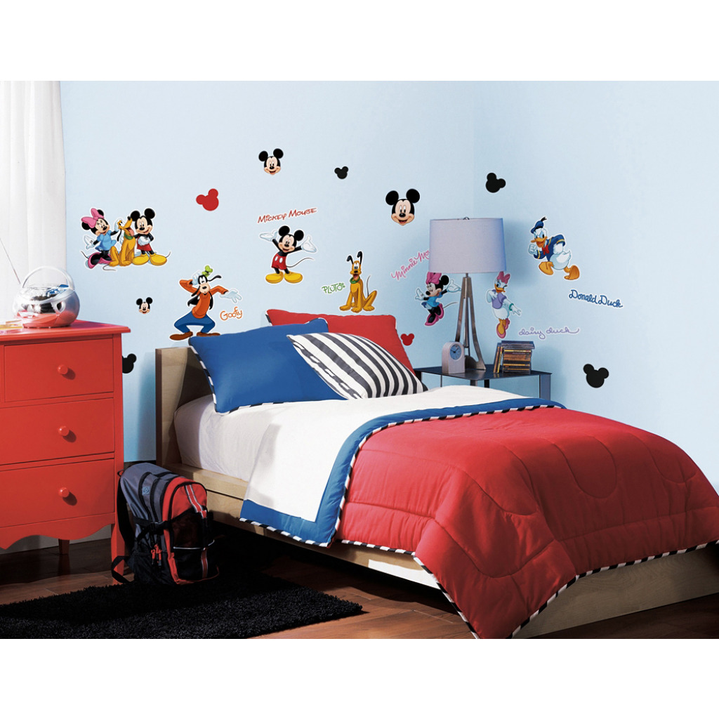 30 wandsticker wandtattoo disney mickey mouse minnie mouse daisy donald duck ebay. Black Bedroom Furniture Sets. Home Design Ideas