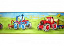 Bordüre Borte Bauernhof Traktor Mähdrescher