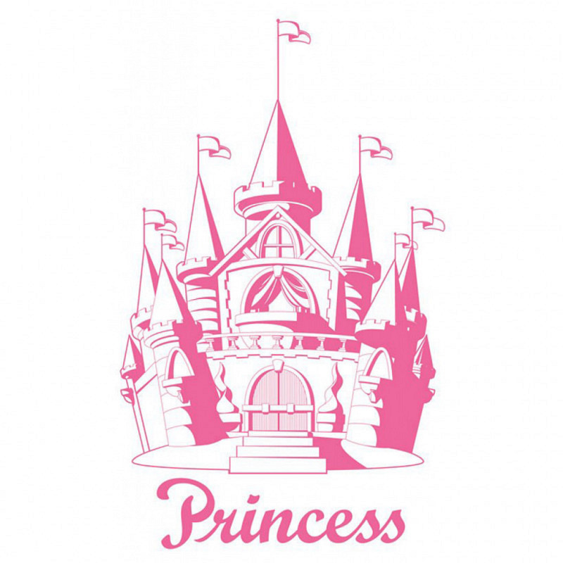 Wandsticker Riesen Prinzessinnenschloss