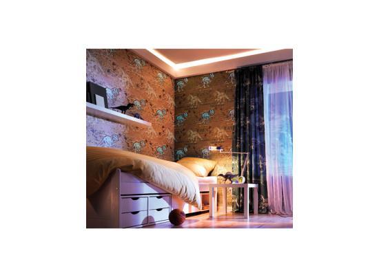 vliestapete kinderzimmer jungen dinosaurier t rex im dunkeln leuchtend 2 00 1m ebay. Black Bedroom Furniture Sets. Home Design Ideas