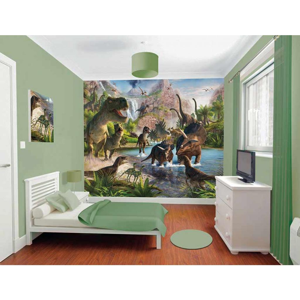 fototapete kinderzimmer dinos dinosaurier wandbild. Black Bedroom Furniture Sets. Home Design Ideas