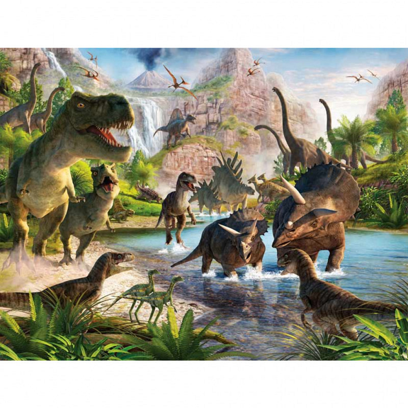 Fototapete Kinderzimmer Dinosaurier Park T.Rex