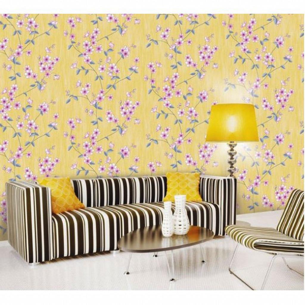 Selbstklebende Tapete Lila : Tapete selbstklebend Blumenranken Seideneffekt lila Glitter 50 x100 cm