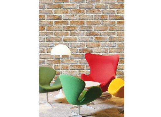 tapete selbstklebend dekofolie mauerstein ziegelstein tapeten deko 50 x 100cm. Black Bedroom Furniture Sets. Home Design Ideas