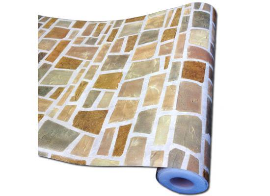 Selbstklebende Tapete Mosaik : Wandtapete Dekofolie Feldstein Tapetenrolle