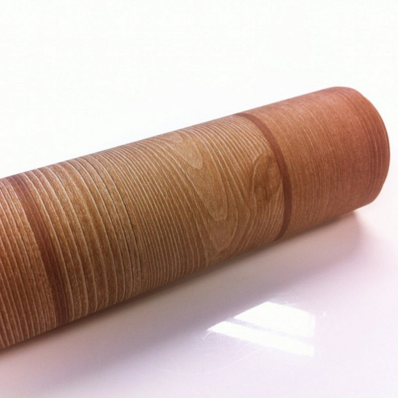Tapete selbstklebend Holz braun gemasert