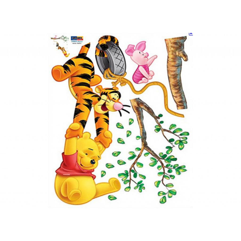wandsticker xxl wandtattoo disney winnie pooh tigger piglet am baum ca 107 cm ebay. Black Bedroom Furniture Sets. Home Design Ideas