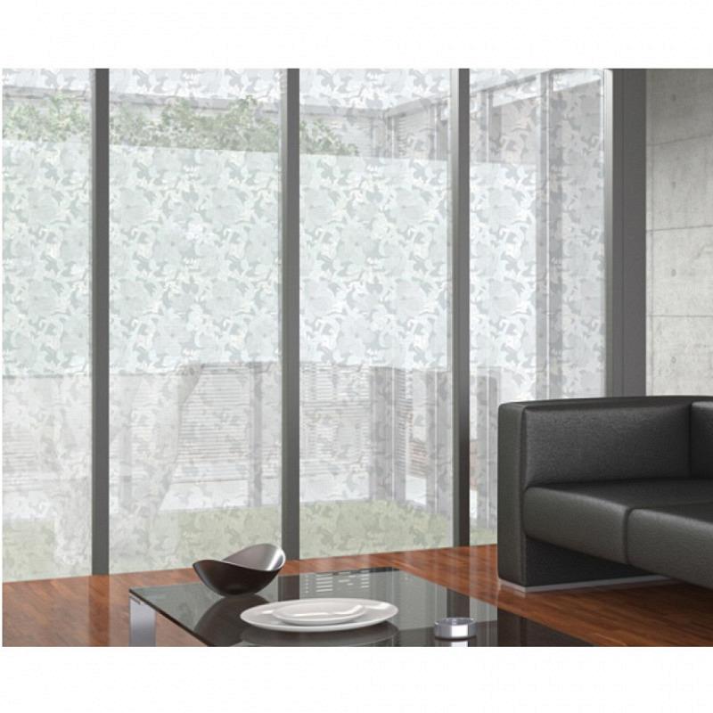 Fensterfolie statisch Magnolie Silber