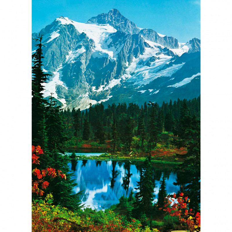Fototapete Wandbild Berggipfel Bergsee