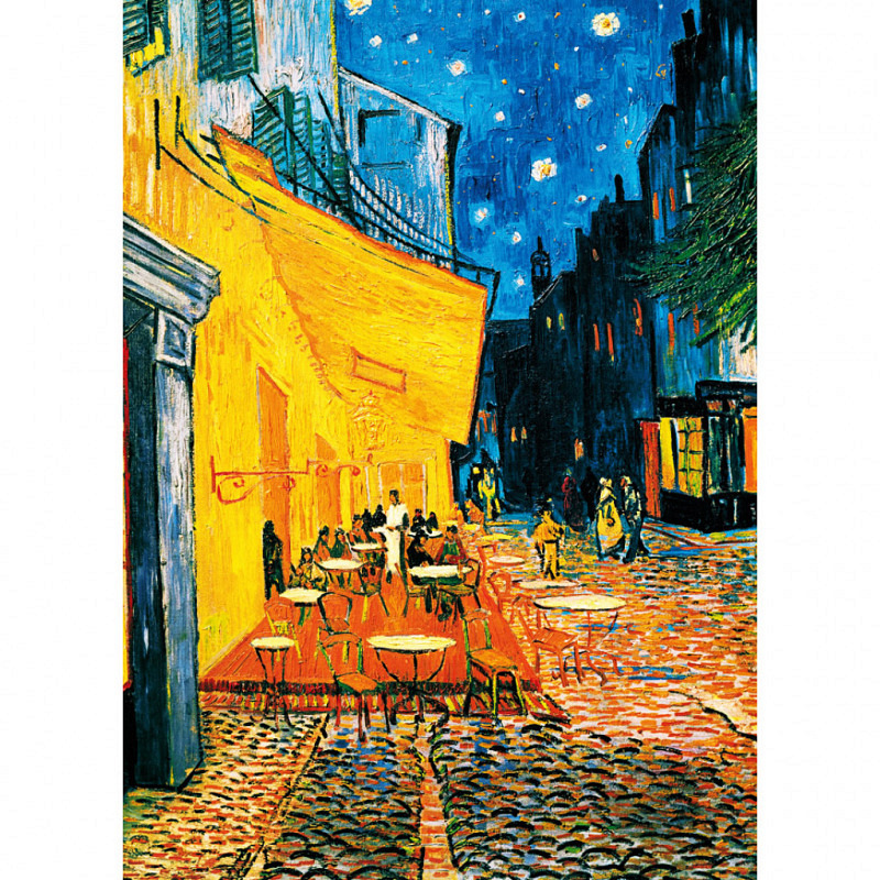 Wandbild van Gogh Caféterasse am Abend