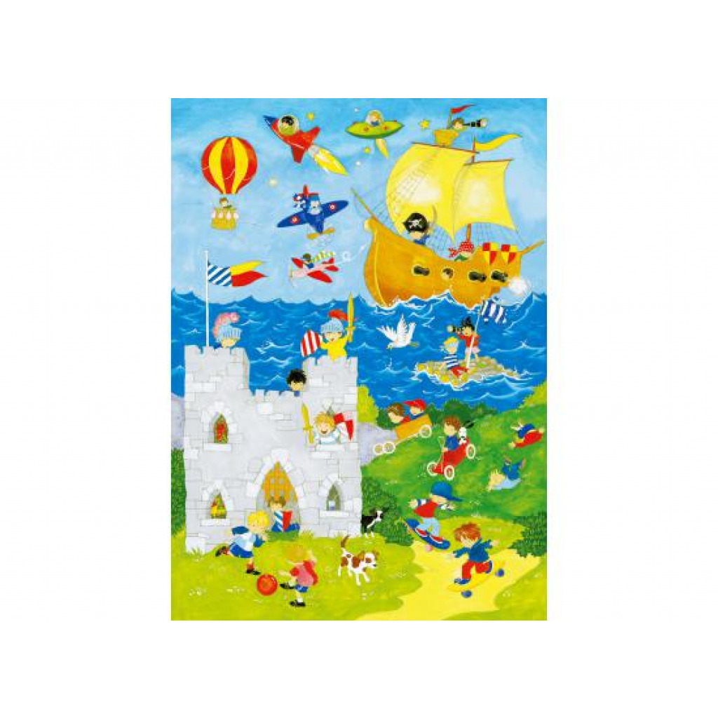 Wandbild Kinderzimmer Jungenwelt-Fototapete 4 Teile