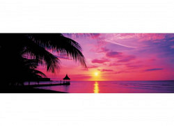 Wandbild Sonnenuntergang Montego Bay